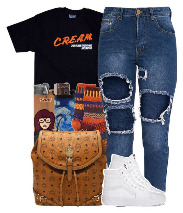 """Untitled #974"" by trinsowavy ❤ liked on Polyvore featuring Solmate Socks, MCM and Vans"