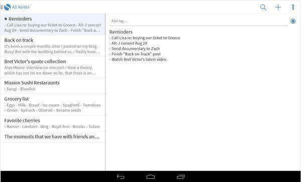 La popular aplicación para tomar notas Simplenote ahora disponible para Android