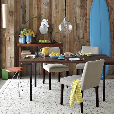 Industrial Dining Table: West elm quality of furniture can be hit and miss but a great look!