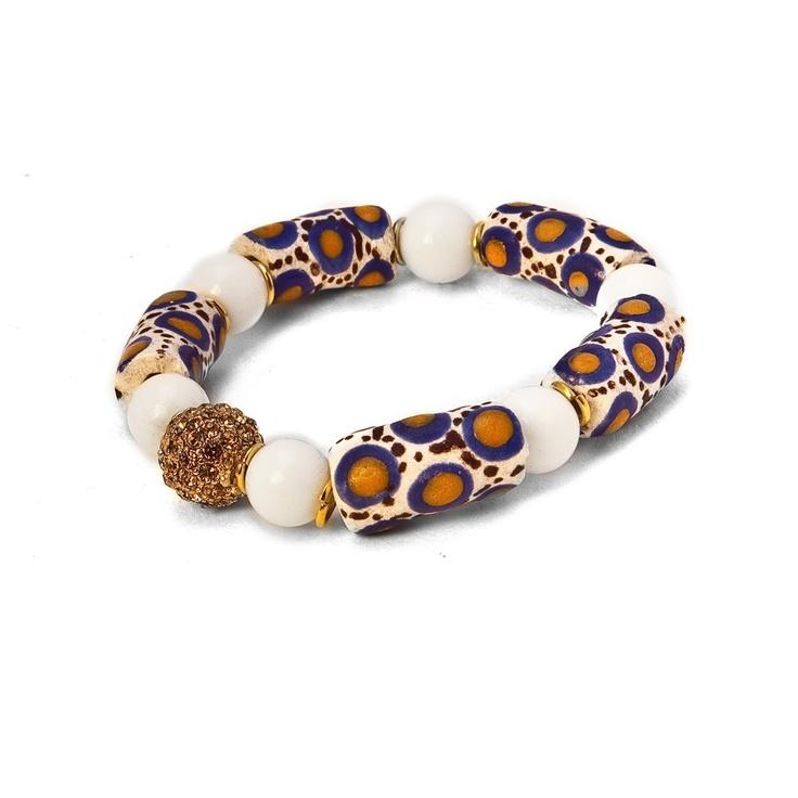 Becca Beaded Bracelet made with beads handmade in Ghana