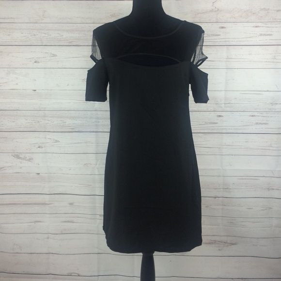 "TOBI little black dress TOBI little black dress Sz M  long from waist 16""  100% polyester Tobi Dresses Midi"
