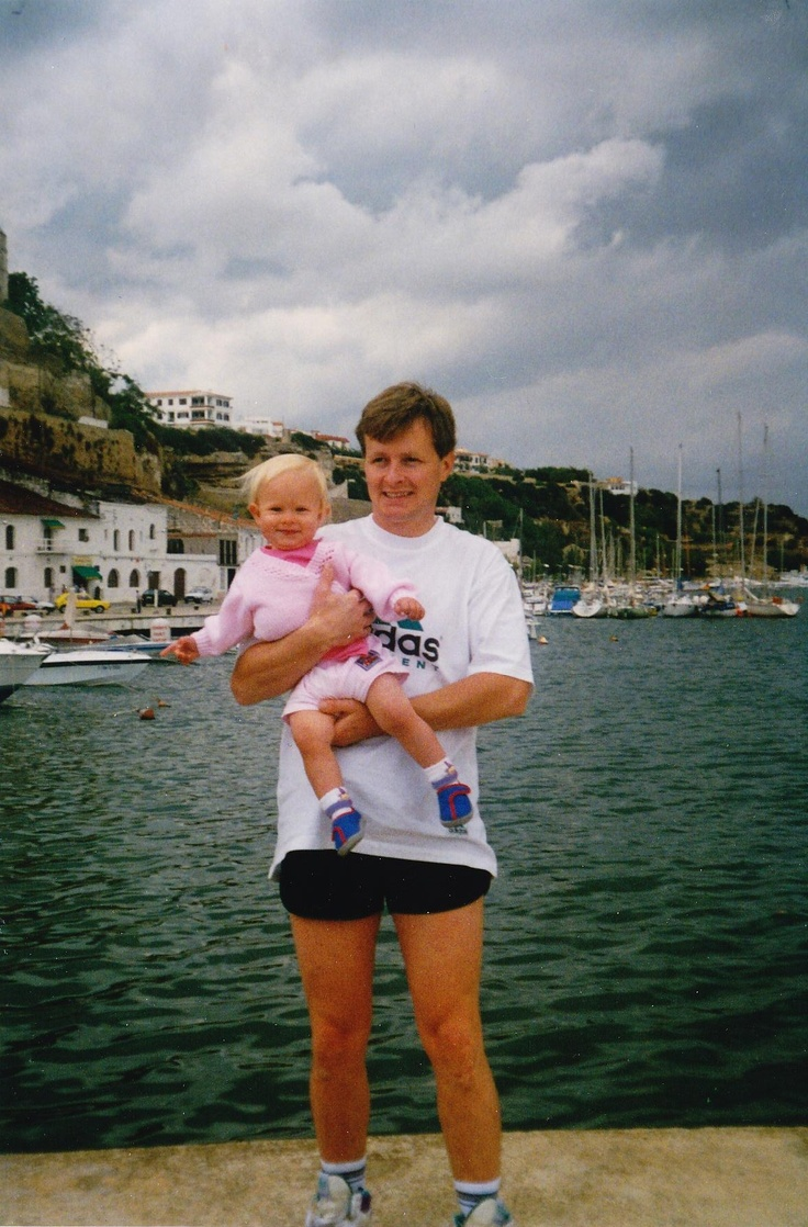 My one year old self on holiday in Majorca with my daddy.