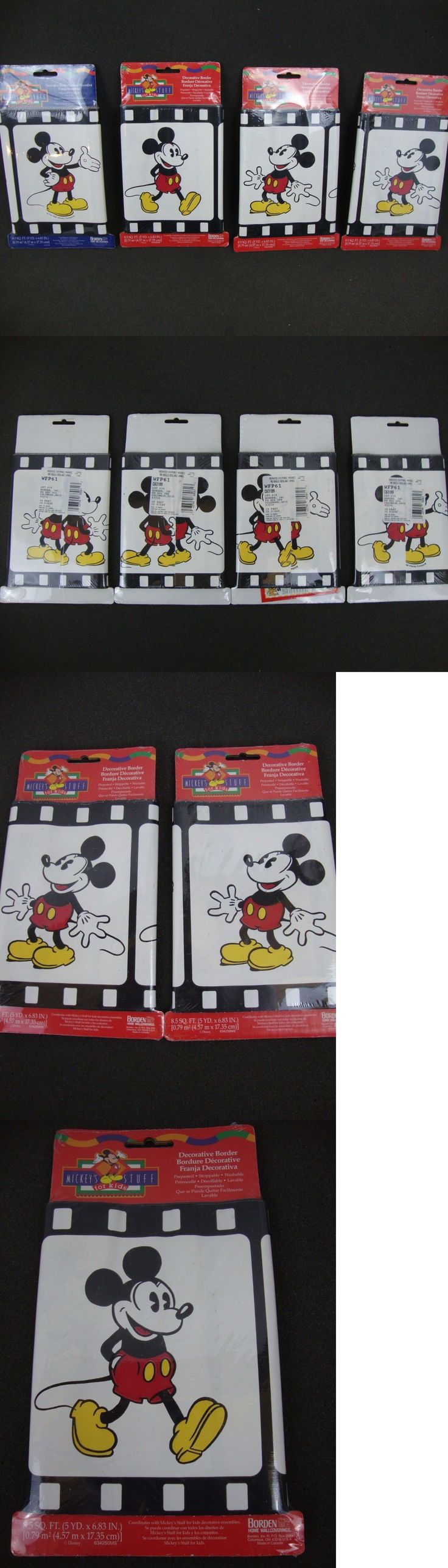 Wallpaper Borders 42136: Mickey Mouse Disney Film Strip Wallpaper Decorative Border 60 Ft New Lot Of 4 -> BUY IT NOW ONLY: $49.95 on eBay!