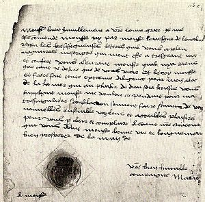 The sister of Henry VIII, the lovely Mary Tudor, aged eighteen - her signature and seal - British Museum
