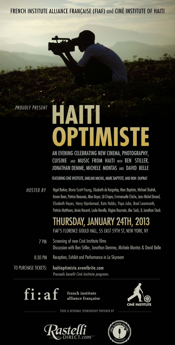 Wish I could be there...  Ciné Institute Of Haiti, Alliance Française Present An Evening Celebrating New Haitian Cinema (NYC) | Shadow and Act