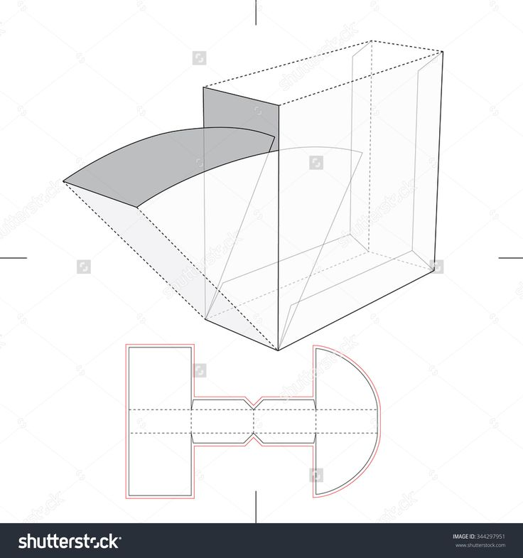 Box With Take One Flop And Blueprint Layout Stock Vector Illustration 344297951 : Shutterstock
