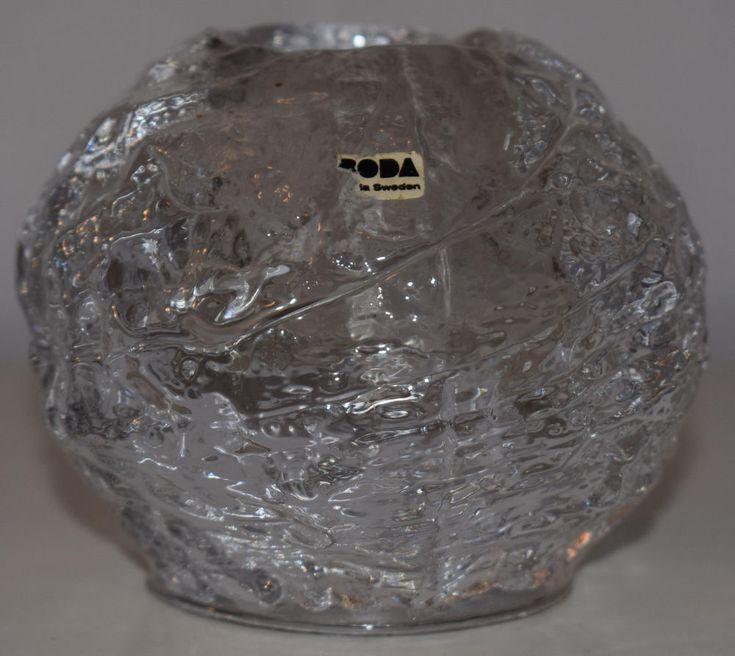 Kosta Boda Sweden glas Design heavy glass Candleholder Midcentury artglass 70s