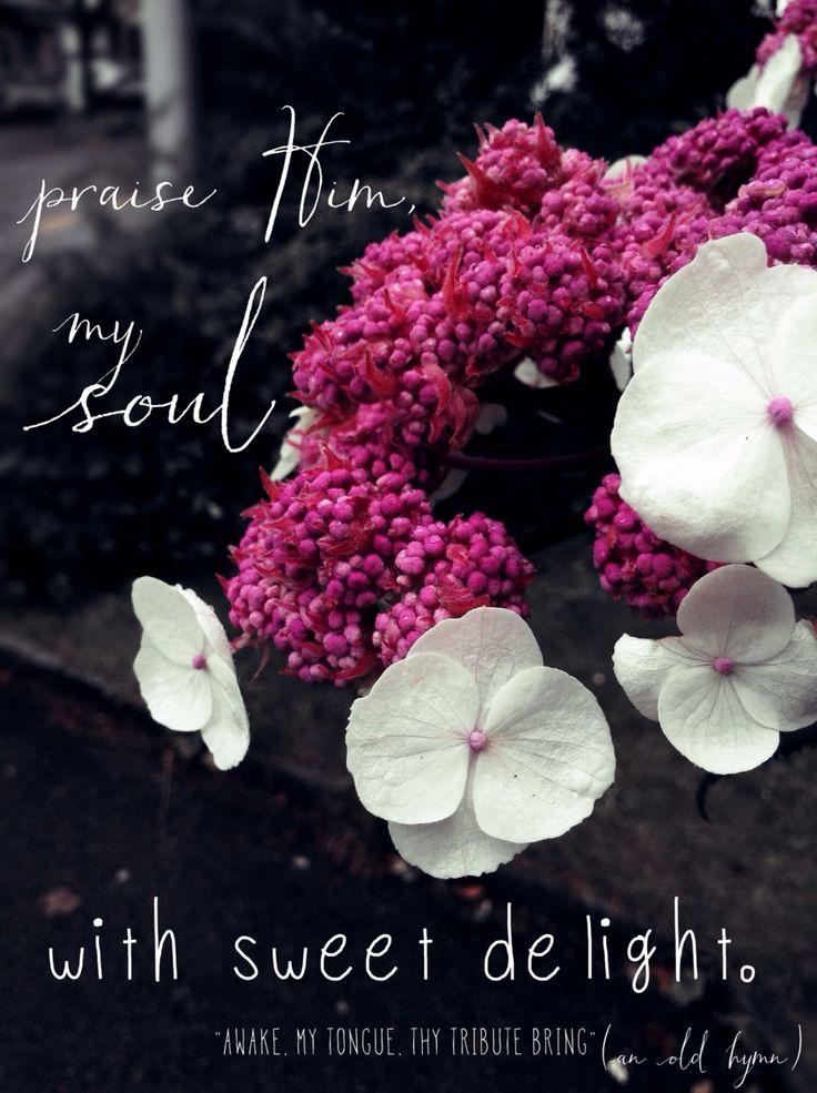 Awake my tongue thy tribute bring an old hymn worship