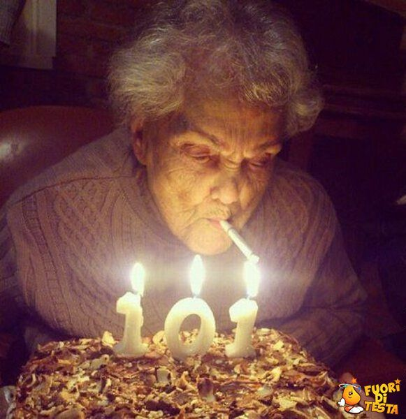 Happy #birthday! #101 #grandmother #smoke #cygarette
