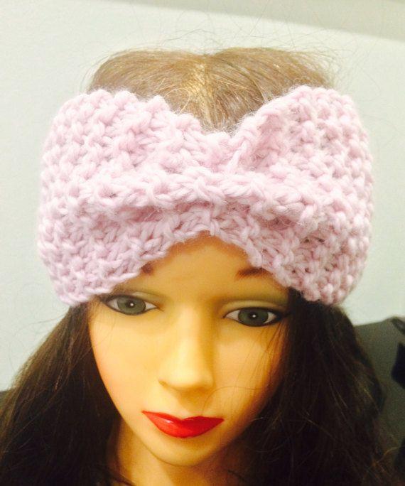 Knit headband knit earwarmers wool headband by AmathusiaBoutique