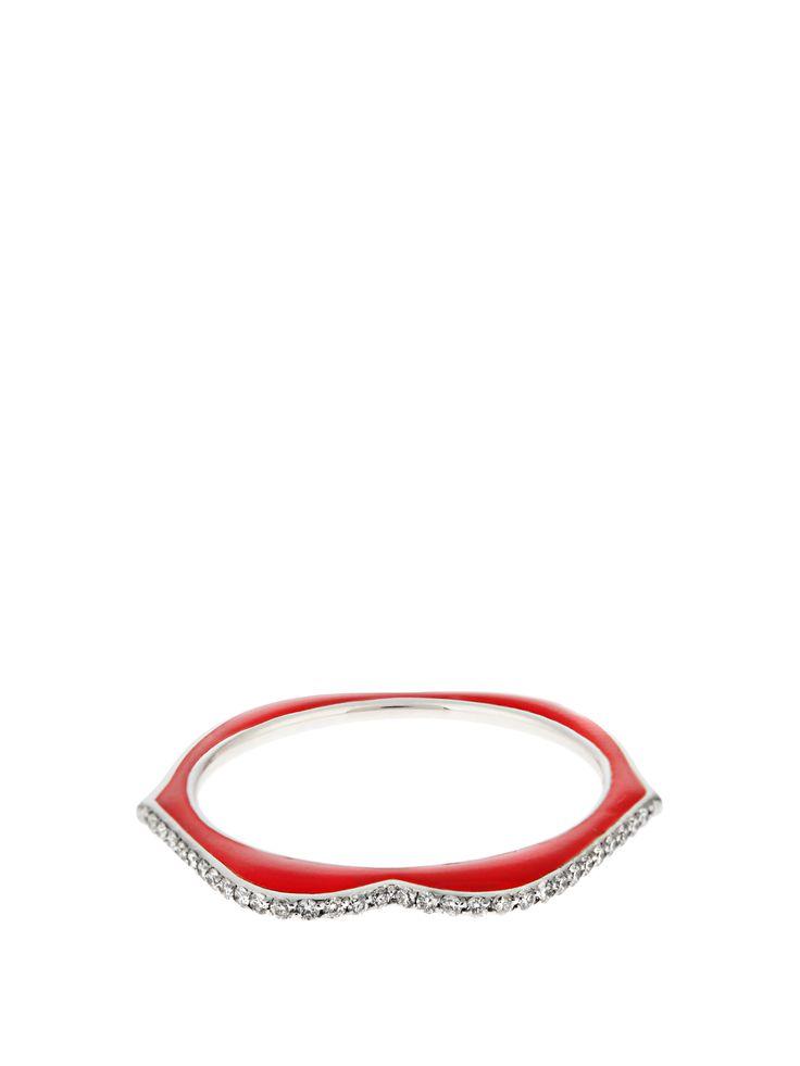 RAPHAELE CANOT  OMG! diamond, enamel & white-gold ring £1,250
