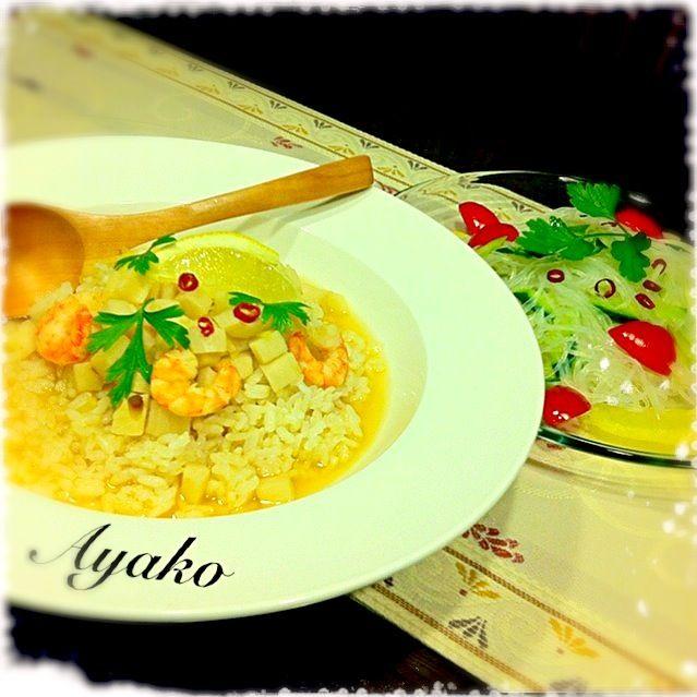 エスニックスープご飯、酸っぱ辛くて、美味しい〜 - 197件のもぐもぐ - エスニックスープご飯、ヤムウンセン by ayako1015