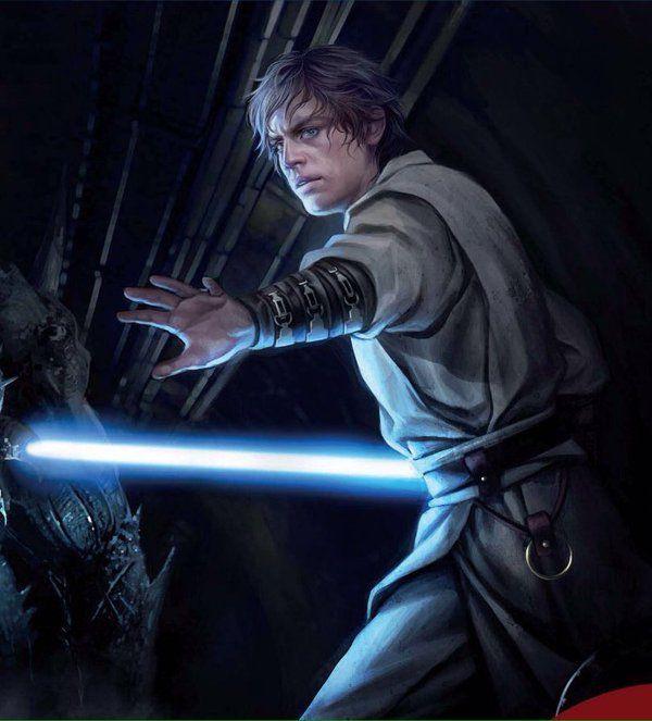Luke Skywalker - fan art? Credits to the owner