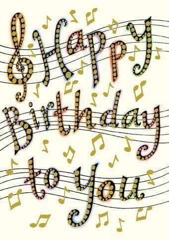 Открытки с нотами день рождения