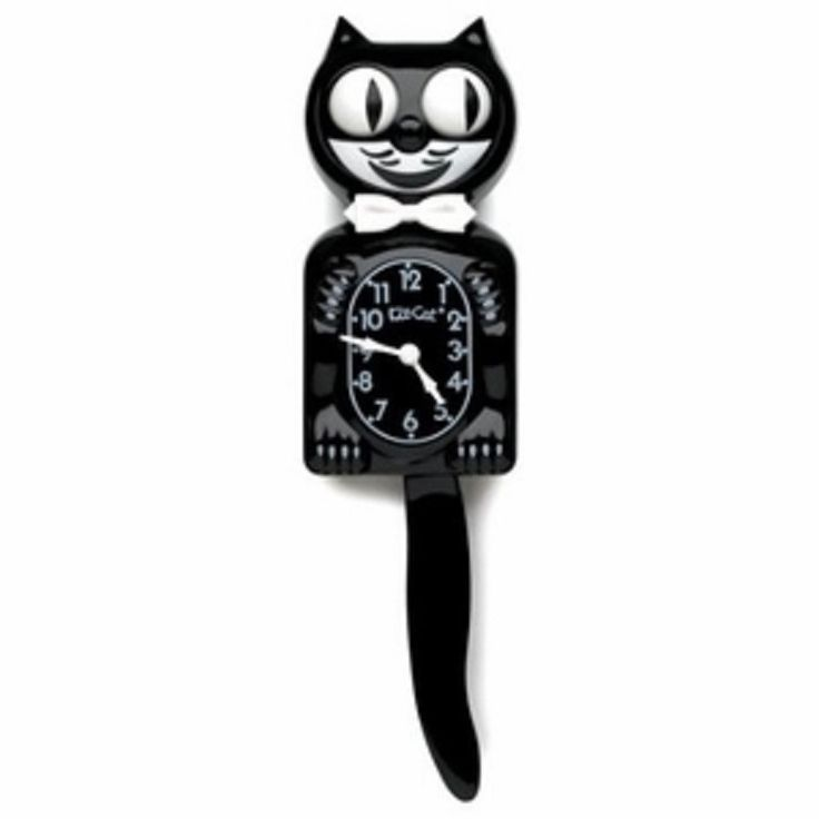 The Classic Kit Kat- Original Black Wall Clock - Free Shipping