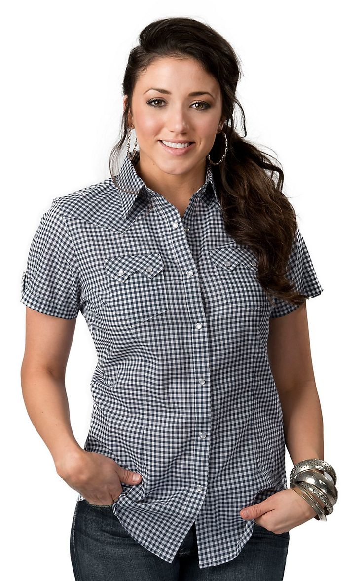 17 best images about fashion southern country on pinterest for Womens navy plaid shirt