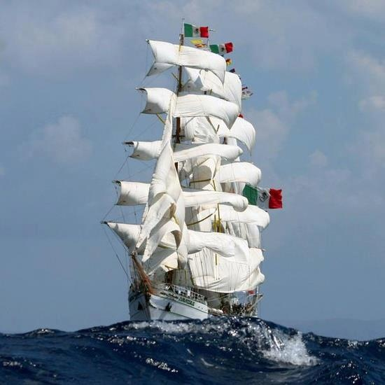"ARM ""Cuauhtémoc"" is a sail training vessel of the Mexican Navy"