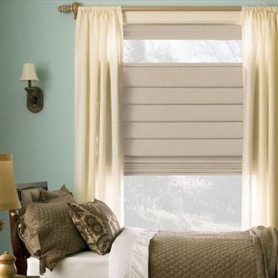 Levolor Classic Roman shades offer a luxurious look with an affordable price.