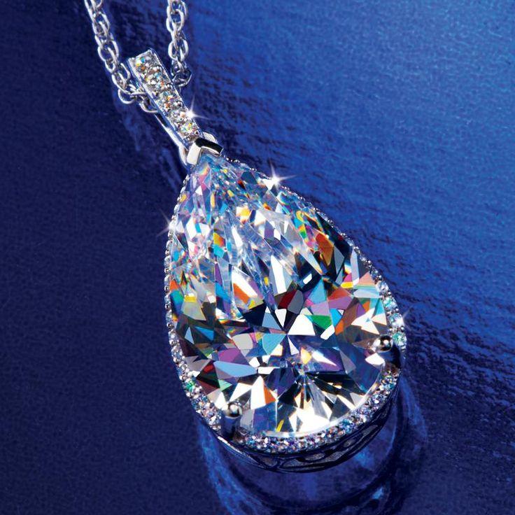 Stauer Jewelry Rings >> ORABELLE DIAMONDAURA NECKLACE 24717 | Stauer.com | Jewelry, Pendant necklace, Women jewelry