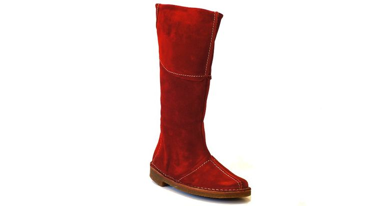 Gina boots natural leather red #ecological and #ethical #shoes