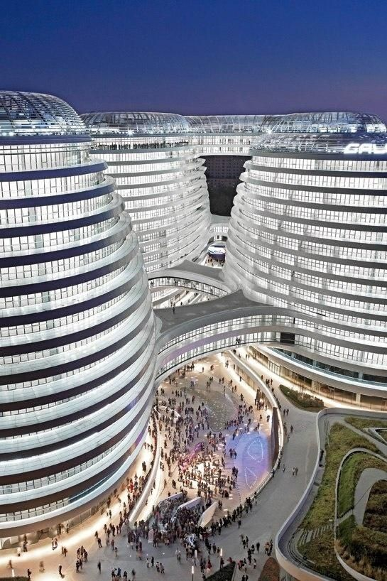 Zaha Hadid's Galaxy SOHO Complex in Beijing #Pin_it @mundodascasas See more Here: www.mundodascasas