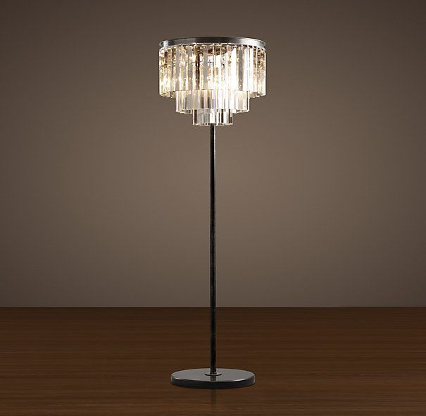 Restoration Hardware's 1920s Odeon Glass Fringe Floor Lamp. LOVE this. Want it in my living room.