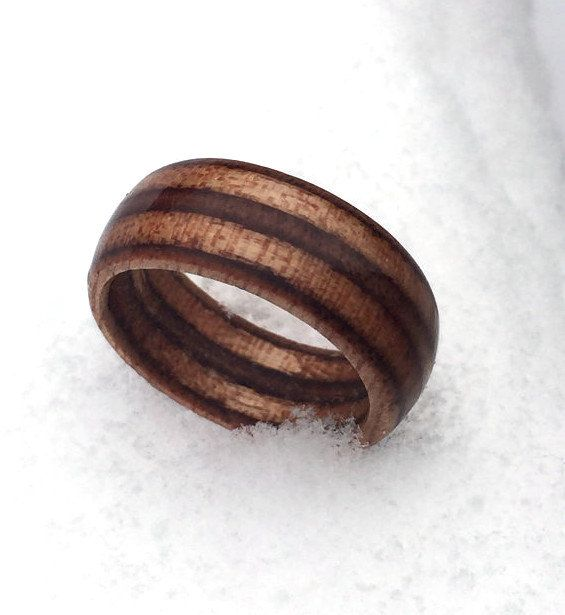 Marine Ply Ring Engineered Wood Unique Mens Cheap Engagement Contemporary Rustic