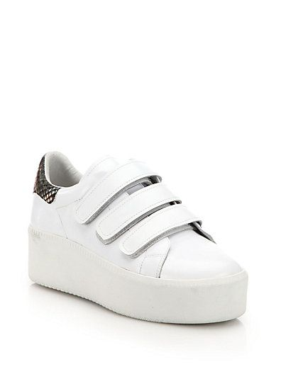 ASH Cool Leather Platform Sneakers. #ash #shoes #sneakers