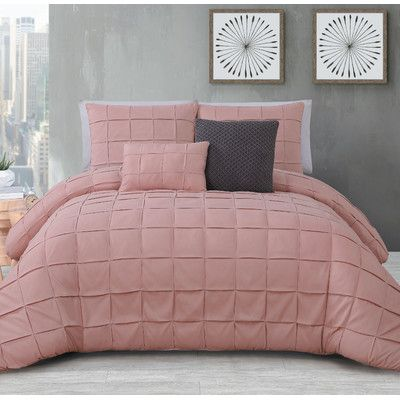 Isocrates 5 Piece Comforter Set by Mercury Row in blush (it says it's blush, but it looks more pink than the others to me) @emil