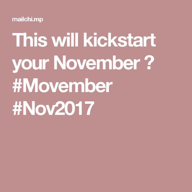 This will kickstart your November😁 #Movember #Nov2017
