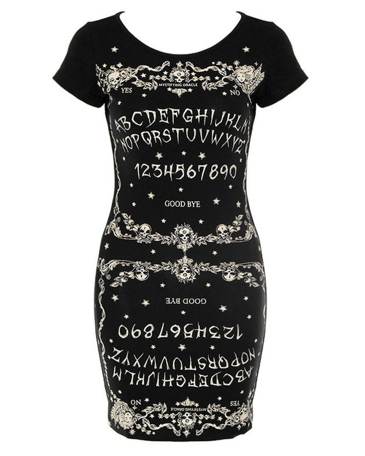 JAWBREAKER DRESS Ouija Board SLASH BACK Black GOTH Occult Witchcraft