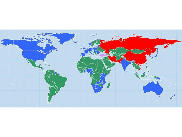 wwiii map side it includes north korea and irans strongest allies on the side of