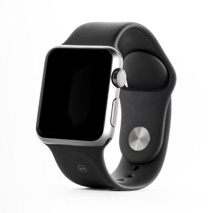 Apple Watch Sport Montre connectée avec boîtier en aluminium argent de 38 mm et bracelet sport noir: Amazon.fr: High-tech