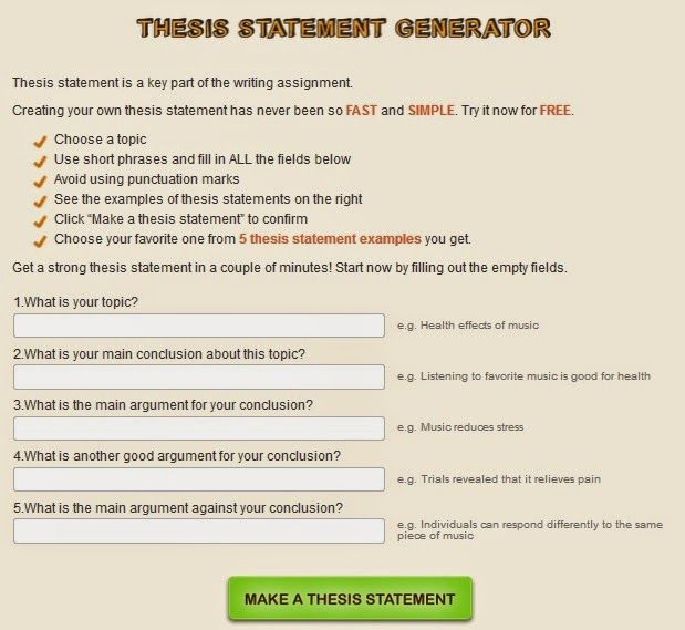 Essay About English Language Essay Thesis Statement Generator Thesis Statement For Narrative Essay  Example Gt On Personal With  Animal Testing Essay Thesis also High School Application Essay Examples The  Best Timetable Generator Ideas On Pinterest  Hourly  High School Essay Topics