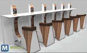 A Belgian company has created a desk that allows users to get work done and exercise at the same time!