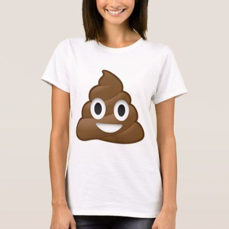 Smiling Poop Emoji T-Shirt - tap, personalize, buy right now!
