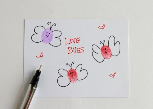 Thumbprint Love Bugs Card