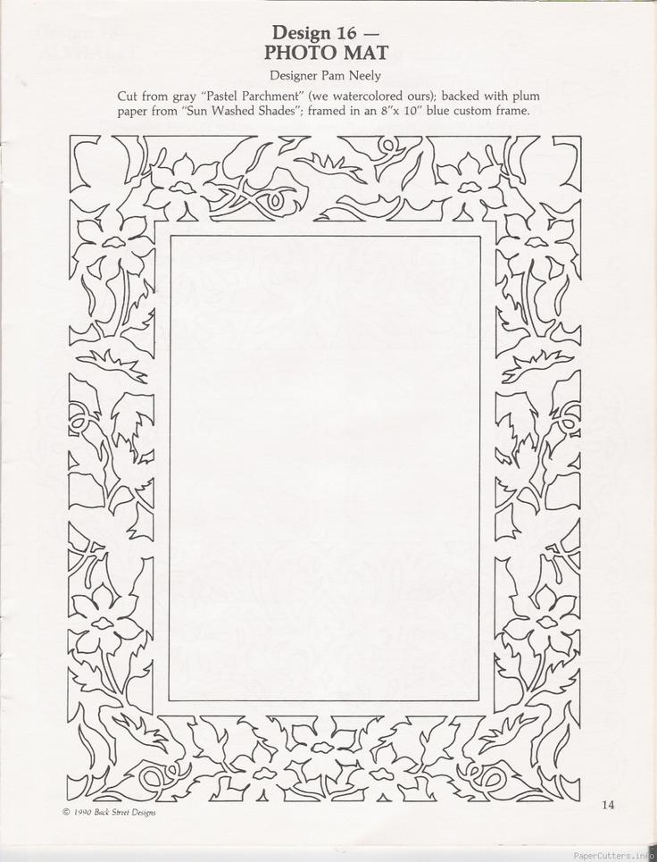Paper Cut Frame Template ~ Paper Cutters