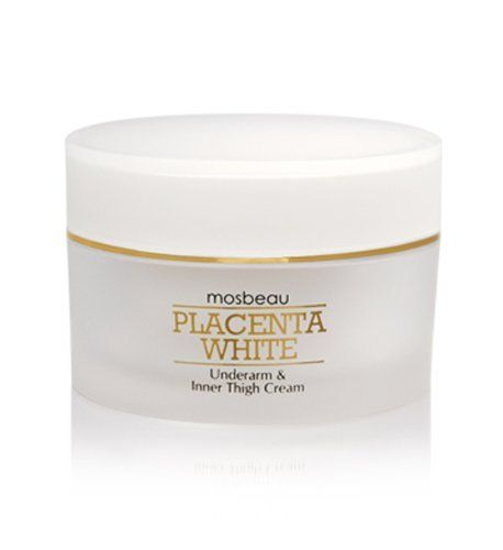 Authentic Mosbeau Placenta White Underarm & Inner Thigh Whitening Cream by Mosbeau. $68.00. Made in Japan, from the multi-awarded Mosbeau Labs comes a new and innovative formula that will be the standard in whitening, Mosbeau Placenta White Underarm & Inner Thigh Cream is infused with more whitening and moisturizing ingredients for that long-lasting evenly fair skin.  WHAT MAKES IT BETTER?  Intensified Whitening Deeply penetrates the skin to control melanin production that lea...