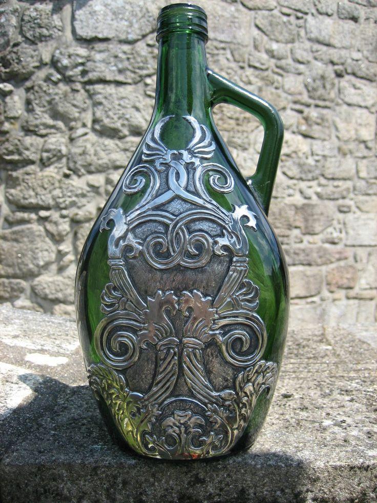17 mejores ideas sobre recipientes de vidrio en pinterest for Manualidades con estano