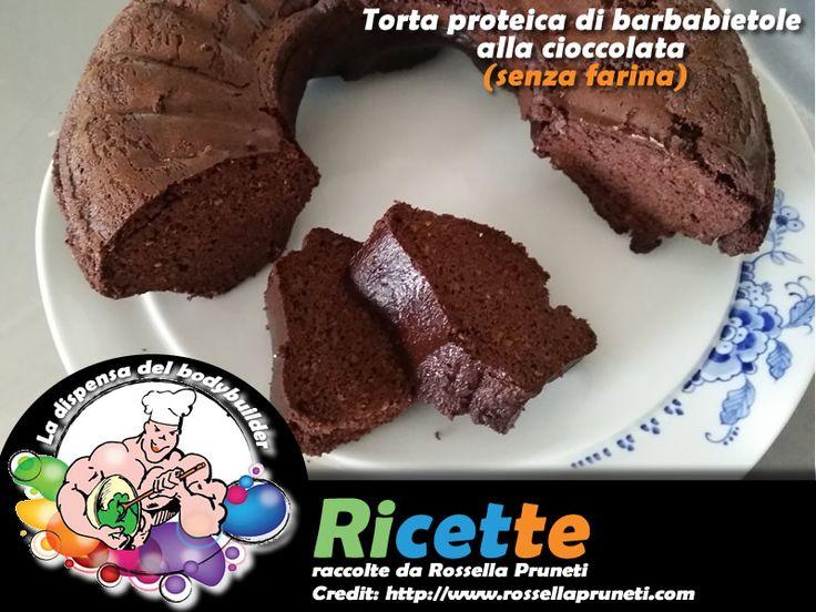 Torta proteica di barbabietole alla cioccolata (senza farina)