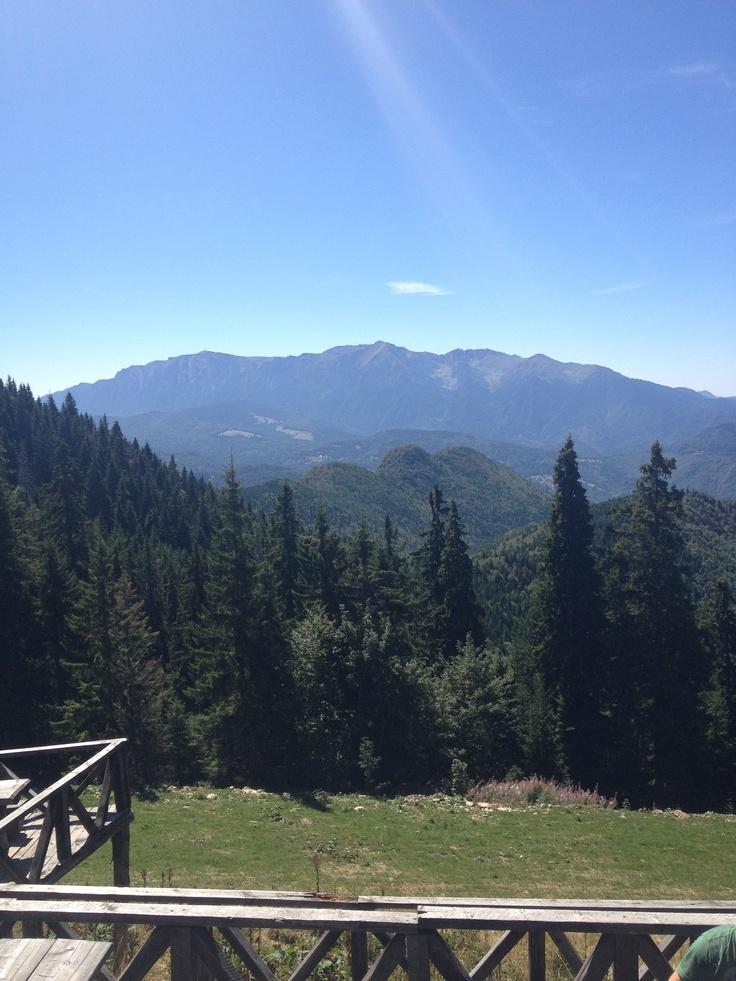 Postavaru - View over Bucegi Mountains.