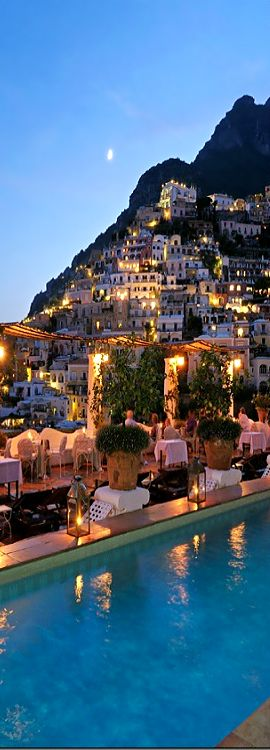 The scenery is stunning at night, mark it on the list. Positano, Italy visit here with http://www.benvenutolimos.com/