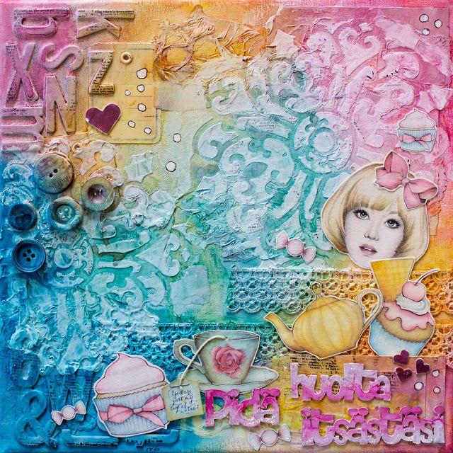 Paperilla -lehti: Värityskuvia ja mixed mediaa!