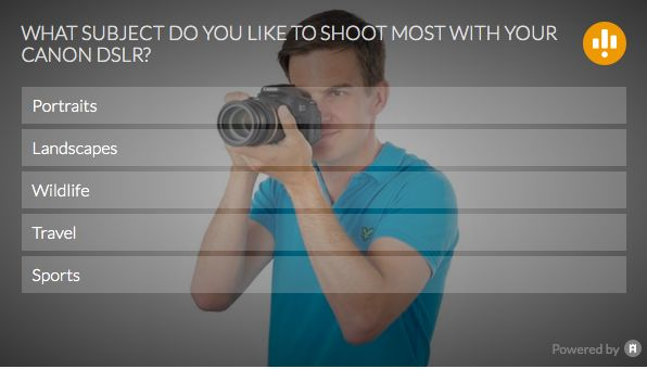 What do you like to shoot the most with your Canon DSLR? Have your say in the latest poll from our Canon magazines, PhotoPlus!