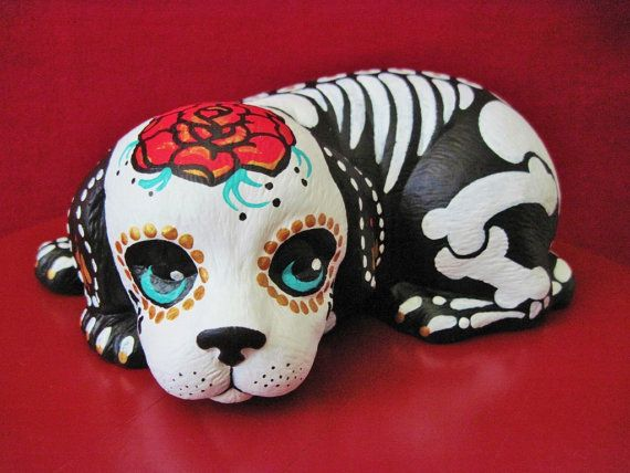 Hey, I found this really awesome Etsy listing at http://www.etsy.com/listing/155450895/day-of-the-dead-dog-statue-skeleton