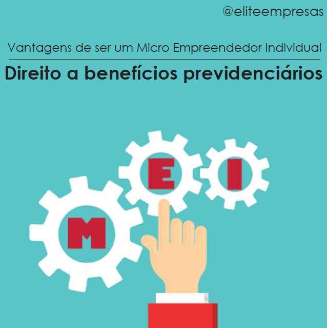 Investir em ser um microempreendedor é ter a garantia de estar protegido por uma previdência social.  Saiba mais benefícios de ser um #MEI: http://www.contabilidadeelite.com.br/mei-o-que-e-beneficios/  #eliteempresas #Microempreendedor #ReceitaFederal #compredopequeno #PrevidênciaSocial #Contabilidade