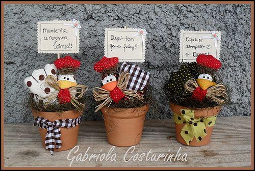 ♥♥ vasinhos de galinhas ♥♥.....(omGEE....so cockle-doodling CUTE!!!)....