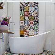 Mediterranean tile bathroom bathroom mediterranean with bright tiles moroccan tiles mosaic tiles