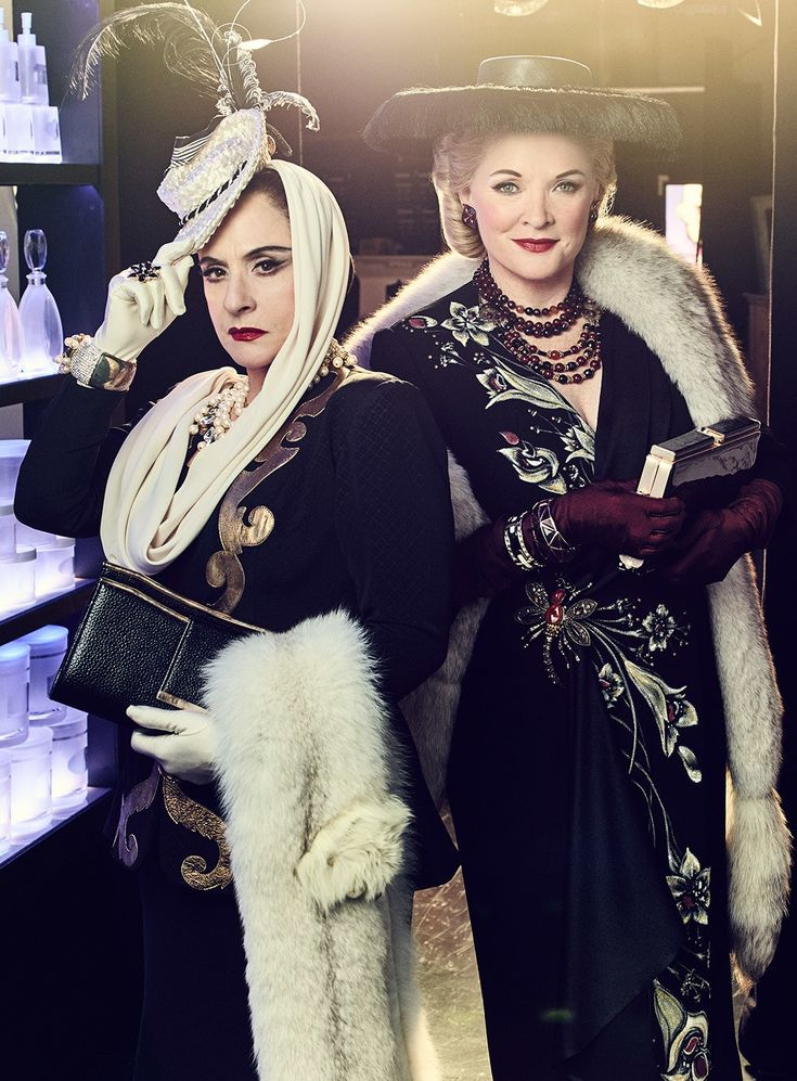 <em>War Paint</em> co-stars Patti LuPone and Christine Ebersole, photographed at the Goodman Theatre, in Chicago. Photograph by Joe Pugliese.